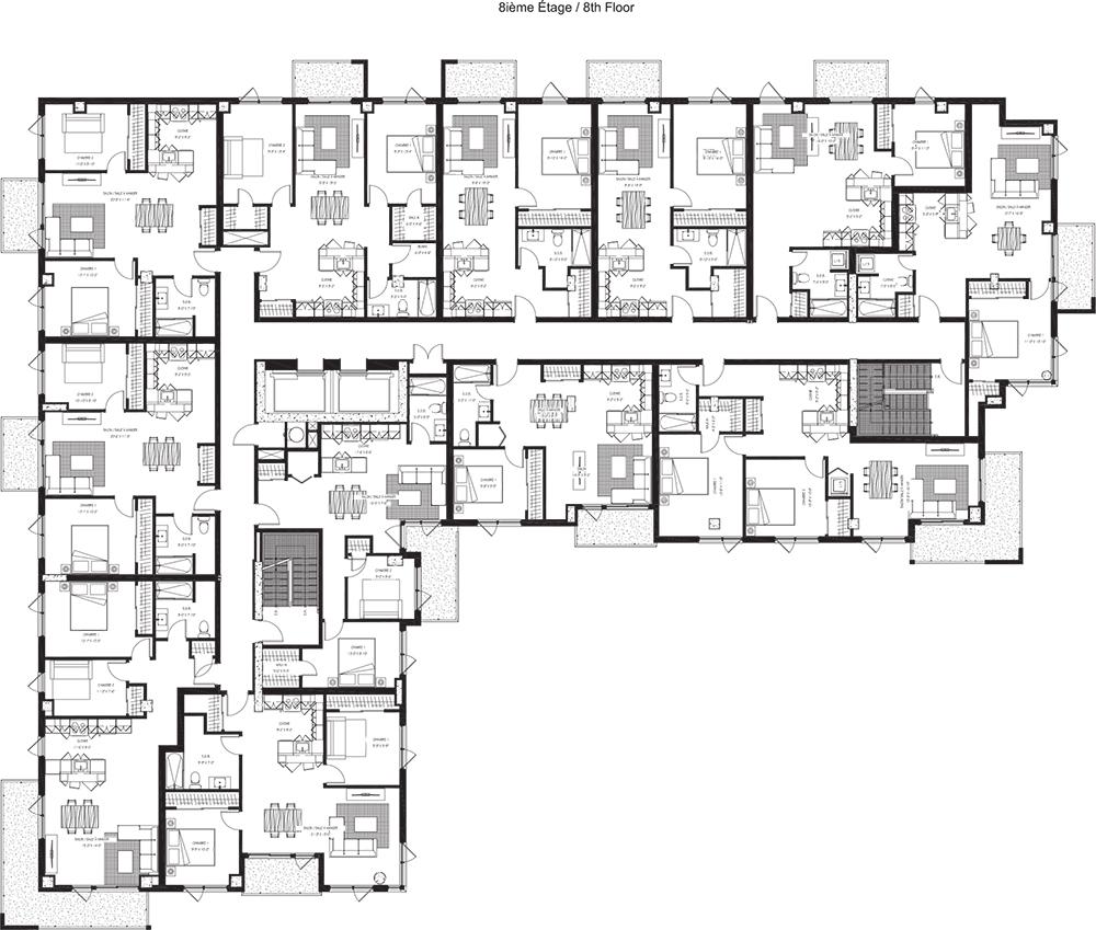 8e étage / 8th Floor