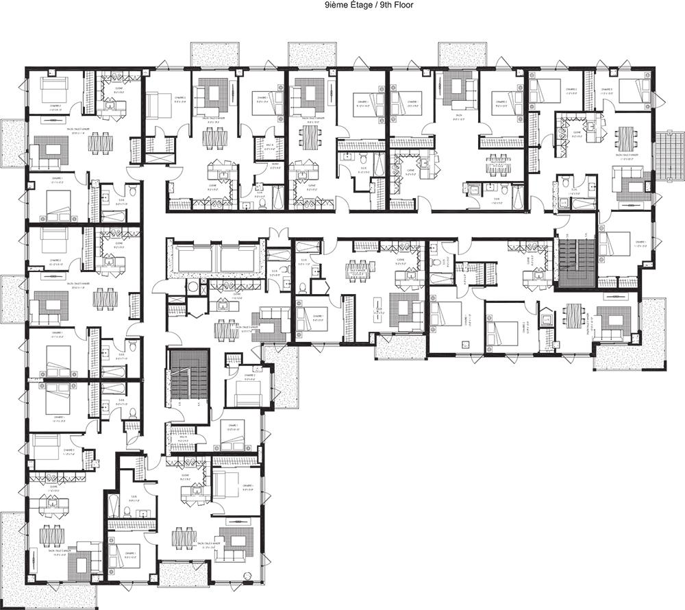 9e étage / 9h Floor